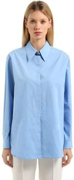 N°21 Boyfriend Poplin Shirt W/ Jewel Button