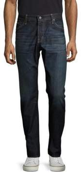 AG Adriano Goldschmied Whiskered Cotton Jeans