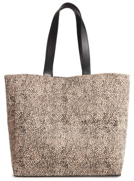 Amuse Society Carry On Faux Calf Hair Tote - Beige