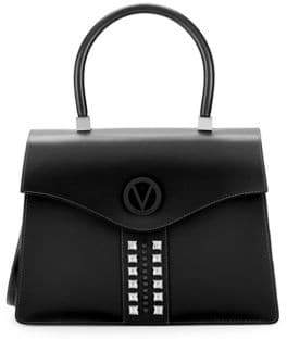 Mario Valentino Anais Leather Top Handle Bag