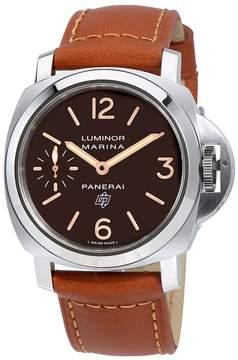 Panerai Luminor Marina Logo Acciaio Brown Dial Men's Hand Wound Watch
