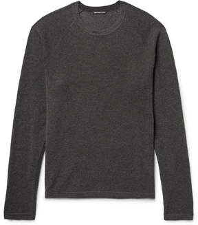 James Perse Waffle-Knit Cotton, Cashmere And Wool-Blend Sweater