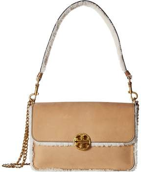 Tory Burch Chelsea Shearling Shoulder Bag Shoulder Handbags - NATURAL - STYLE