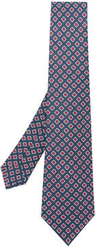 Kiton square pattern tie