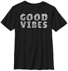 Fifth Sun Black 'Good Vibes' Crewneck Tee - Youth