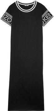 Kenzo Printed Cotton-jersey Dress - Black