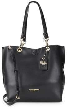 Karl Lagerfeld Bell Reversible Faux Leather Tote
