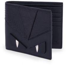 Fendi Leather & Python Bifold Wallet