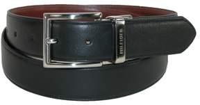 Tommy Hilfiger Men's Feather Edge Reversible 32mm Belt, 44, Black to Tan