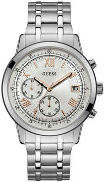 GUESS Silver-Tone Sport Watch