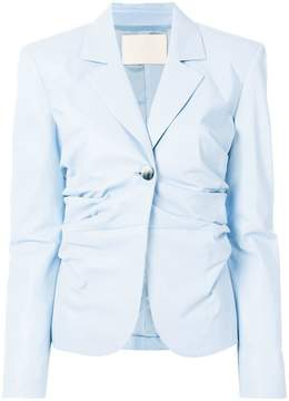 Drome ruched fitted blazer