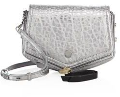 Jimmy Choo Arrow Metallic Leather Crossbody Bag