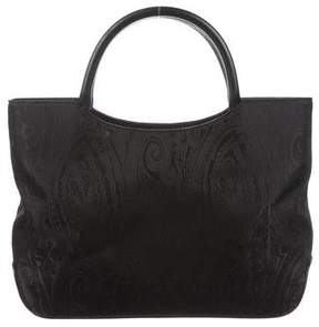 Etro Small Leather-Trimmed Tote