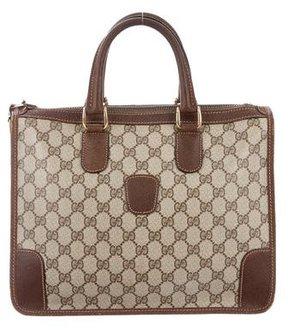 Gucci Vintage GG Monogram Satchel - BROWN - STYLE