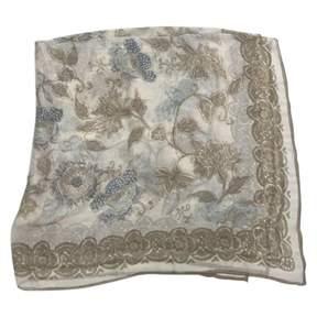 Giorgio Armani 100% Authentic Large Beige Sheer Silk Scarf