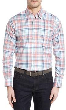 Robert Talbott Men's Anderson Classic Fit Plaid Twill Sport Shirt