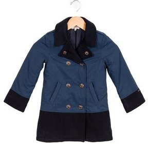 Junior Gaultier Girls' Double-Breasted Collared Coat