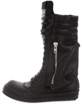 Rick Owens Cargobasket Leather Sneaker Boots w/ Tags
