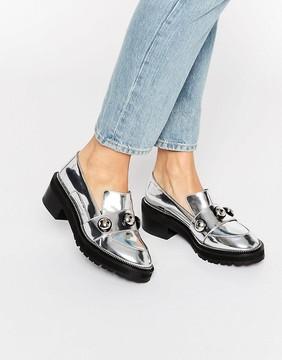 Kat Maconie Salma Silver Chunky Flat Shoes