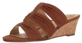 Trotters Womens Mia Leather Open Toe Casual Slide Sandals.