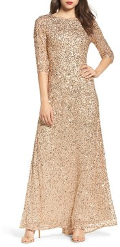 Adrianna Papell Women's Sequin Mesh Gown
