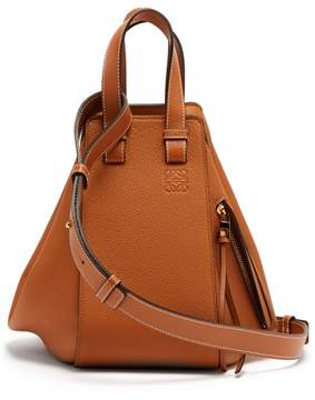 Loewe Hammock Small Grained Leather Tote - Womens - Tan