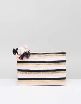Miss KG Hunt Pom Detail Clutch Bag