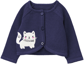 Gymboree Navy Cat Appliqué Cardigan - Infant