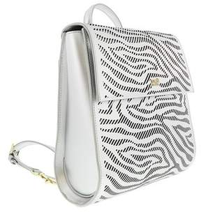 Roberto Cavalli Backpack Audrey 004 Silver Backpack.
