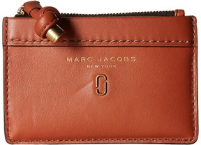 Marc Jacobs Tied Up Top Zip Multi Wallet Wallet Handbags - BRICK - STYLE