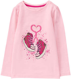 Gymboree Light Pink Sneakers Long-Sleeve Tee - Infant & Toddler