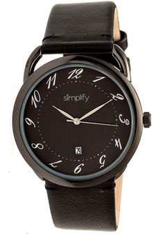 Simplify The 4900 Unisex Black Strap Watch-Sim4906
