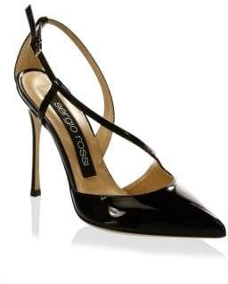 Sergio Rossi Leather Ankle-Strap Pumps