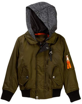 Urban Republic Mix Media Poly Twill Aviator Jacket (Little Boys)