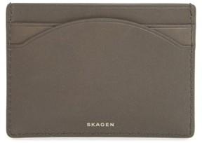 Skagen Women's Leather Card Case - Grey