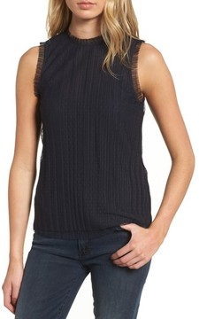 Chelsea28 Women's Dotted Mesh Top