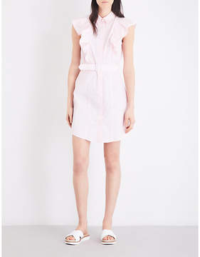 Claudie Pierlot Rose cotton-poplin dress