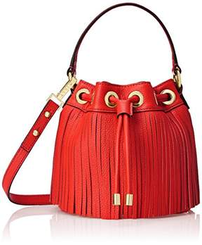 Milly Essex Fringe Mini Drawstring Bucket Cross Body Bag