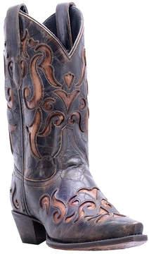 Dan Post Dark Brown Underlay Leather Cowboy Boot - Women