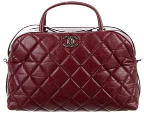 Chanel Aged Calfskin Small Bowling Bag