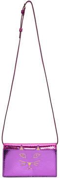 Charlotte Olympia Purple Snake Feline Shoulder Bag