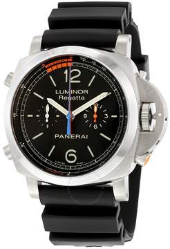 Panerai Luminor 1950 3 Day Chrono Flyback Regatta Black Dial Men's Watch