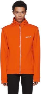 Helmut Lang Orange Logo Hoodie