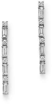 Bloomingdale's Diamond Round and Baguette Linear Drop Earrings in 14K White Gold, .50 ct. t.w. - 100% Exclusive