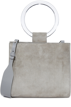 Edie Parker Deuces Suede Bag