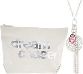 Dogeared Venus Cluster Necklace and Pouch