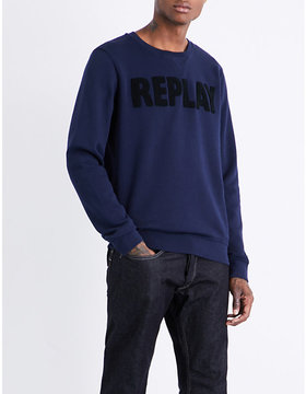 Replay Crewneck cotton-jersey sweatshirt