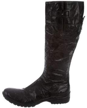 CNC Costume National Distressed Knee-High Boots