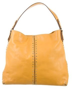 MICHAEL Michael Kors Studded Leather Bag - YELLOW - STYLE