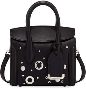 Alexander McQueen Heroine 21 Mini Leather Satchel Bag with Hardware Detail